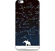 Elephant and Space Pattern Hard Case Cove for iPhone 6