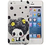 padrão cartoon padrão menina pc caso escovado para iPhone 5 / 5s