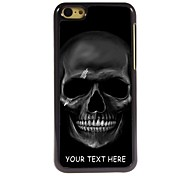 персонализированные телефон случае - черный череп дизайн корпуса металл для iPhone 5с