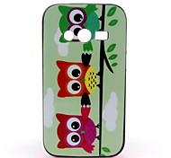 tonto búhos patrón de cubierta de la caja para Samsung Galaxy Ace 4 g313h