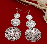 Fashion New Round Drop Earrings Random Color
