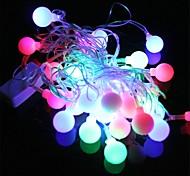 3W Christmas Flash 28-LED RGB Light Lamp String - Green + Red + Blue (110V)