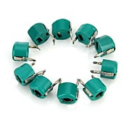 30Pf 6mm Plastic Variable Capacitors - Green (10 PCS)