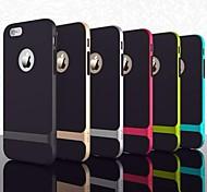 Silikon-Rahmen Fall ultradünne Hummel Oberteil für iphone 6 (Farbe sortiert)