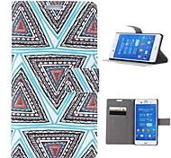 племенной узор ковра пу кожаный чехол для всего тела с подставкой и слотом для карт Sony Xperia z3