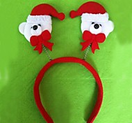 Christmas Red Flush Santa Claus Headband(6pcs)