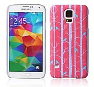 rode bomen patroon met rubber design case harde case voor Samsung Galaxy S5
