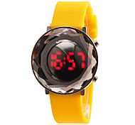 Women's 3D Rhombus LED Digital Silicone Band Wrist Watch (Assorted Colors)