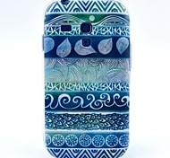 bleu fleurs d'empreintes digitales motif étui pour mini i8190 samsung galaxy