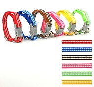 0.8cm Width Grid Styles Nylon Collar for Cats and Small Dogs (assorted colours)