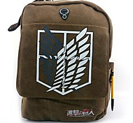 Attack on Titan Freedom Wings Pattern Brown Canvas Cosplay Backpack Bag