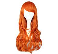 Косплэй парики One Piece Nami Оранжевый Средний Аниме Косплэй парики 65 CM Термостойкое волокно Женский