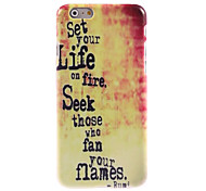 Set Your Life On Fire Design Hard Case for iPhone 6 Plus