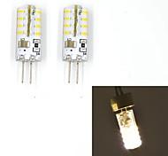 JMT g4 2w 32x3014smd 120lm wärmen, / kühlen weißes Licht geführt Zweistiftlampe (AC 220 V) 2 Stück