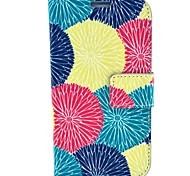 Colorful Sun fFower Pattern PU Leather Case with Wallet Card Slot for Samsung Galaxy S4 I9500