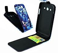 der Wolf-Entwurf PU-Leder Ganzkörper-Case für Samsung Galaxy Core 2 g3556d / g355h