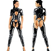 Seductive SM Game Binding Black PVC Sexy Uniforms