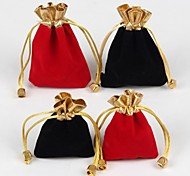 10PC  7*9CM Jewelry Packing Bag Gift Bag(Red,Black)
