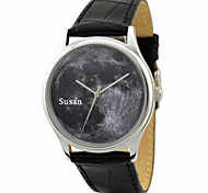Personalized JUST2YOU Citizen Movement  Black  Moon in Steel   Case