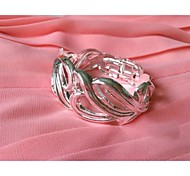 925 Silver Plated Large Women's Bangle