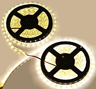 Waterproof 144W  600-5050 SMD LED 3300K 8400-Lumen Warm  White Light Decoration Strip Lights(10M-Length/DC 12)