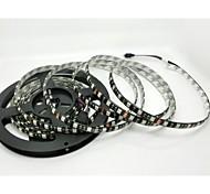 Black PCB Board Waterproof 5M 300x5050 SMD White Light LED Strip Lamp DC 12V