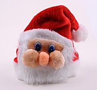 Papá Noel de peluche enfrentan sombreros de la Navidad