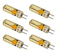 1.5W G4 LED-maïslampen T 24 SMD 3014 100-120 lm Warm wit / Koel wit AC 12 V 6 stuks