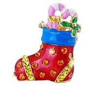 Fashion Colorful Christmas socks Shape Brooch