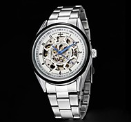 Men's Skeleton Dial Steel  Strap Automatic Mechanical Watch (Assorted Colors)