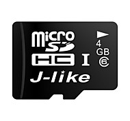 J-Like® MicroSDHC TF Class6 4GB Memory Card