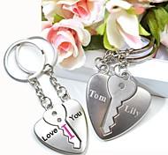individuellen Gravur liebe dich Metall-Paare keychain