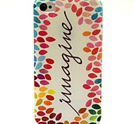Around The Leaves Pattern PU Leather Full Body Case with Card Slot and Stand for iPhone 4S