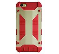 geekrover armure hybride métal et de silicium cas pour Apple iPhone (6 couleurs assorties)