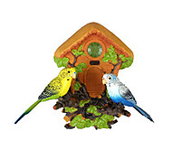 Voice-Control Singing Simulation Hangings Couple Bird with House Toys