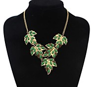 Z&X®  European Style Maple Leaves Statement Necklace (4 Colors Options: Red, Green, Black, White)