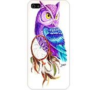 arrière motif oiseau de nuit cas pour iPhone5 / 5s