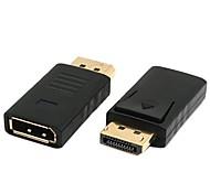 DP DisplayPort Display Port Male to Female M/F Extension Adapter Black