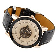 Women's Round Diamante Dial Leather Band Quartz Fashion Watches
