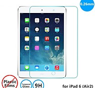 TOPCEL  0.26mm Tempered Glass Screen Protector with Microfiber Cloth for iPad 6 (Air 2)