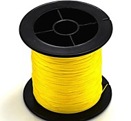 200M / 220 Yards PE Braided Line / Dyneema / Superline Fishing Line Yellow 60LB 0.37 mm ForSea Fishing / Fly Fishing / Bait Casting /