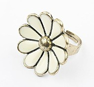 European Style Fashion Retro Fashion Personality Small Daisy Adjustable Ring