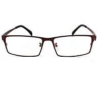 [Free Lenses] Men's Titanium Rectangle Full-Rim Lightweight Prescription Eyeglasses