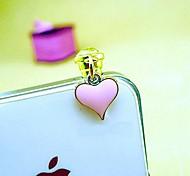 pequeña 3.5mm corazón enchufe del anti-polvo para el iphone y otros 6 (colores aleatorios)