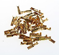 2.8mm Cold Terminal Reed Full Copper Pressure Line Terminal Wiring Plug Spring With  (50Pcs)