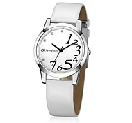 Women's Analog Round PU Quartz Fashion Watch