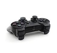 doble choque controlador de juegos inalámbrico bluetooth + protector botón + funda de silicona + cable para ps3