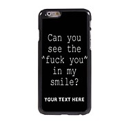 Personalized Phone Case - Fuck Letter Design Metal Case for iPhone 6