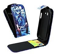 Wolf Vertical Flip  Leather Full Body Case for Samsung Galaxy Trend Lite S7390/S7392