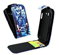 Wolf vertikale Flip Lederganzkörperhülle für Samsung Galaxy Trend lite s7390 / s7392